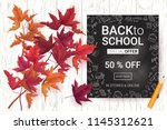 welcome back to school sale... | Shutterstock .eps vector #1145312621