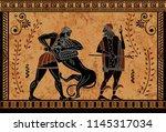 Ancient Myth Sceen Black Figur...