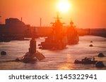 a line of modern russian... | Shutterstock . vector #1145322941