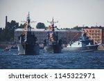 a line of modern russian... | Shutterstock . vector #1145322971