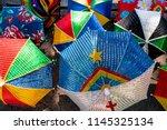 frevo umbrella with pernambuco... | Shutterstock . vector #1145325134