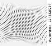 dotted abstract form. vector... | Shutterstock .eps vector #1145325284