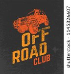 off road club logo. extreme... | Shutterstock .eps vector #1145326607