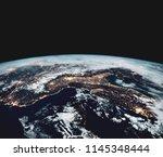 earth from space. best internet ... | Shutterstock . vector #1145348444