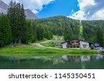 plattkofel and langkofel... | Shutterstock . vector #1145350451