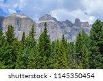 plattkofel and langkofel... | Shutterstock . vector #1145350454