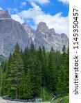 plattkofel and langkofel... | Shutterstock . vector #1145350457