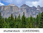 plattkofel and langkofel... | Shutterstock . vector #1145350481
