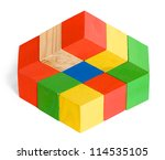 impossible toy  illusion ... | Shutterstock . vector #114535105