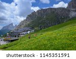 pordoi pass  italy   28 june... | Shutterstock . vector #1145351591