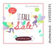 vector template of autumn sale...   Shutterstock .eps vector #1145352191