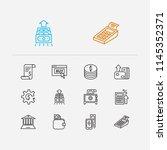 banking icons set. mobile...