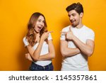 image of happy young people man ... | Shutterstock . vector #1145357861