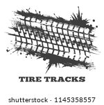 mud tire tracking. vector... | Shutterstock .eps vector #1145358557