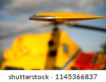rescue helicopter landed on the ... | Shutterstock . vector #1145366837