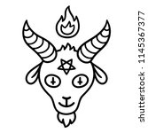 cartoon style satan drawing ... | Shutterstock .eps vector #1145367377