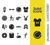 activity icons set with soccer...