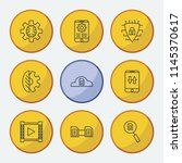 service icons set with data...