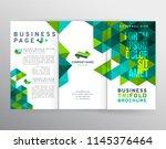vector eps 10. mock up of tri...   Shutterstock .eps vector #1145376464