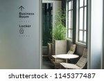 modern cozy business room... | Shutterstock . vector #1145377487