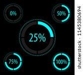 circular progress icon set.... | Shutterstock .eps vector #1145380694