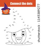 connect the dots children... | Shutterstock .eps vector #1145389277