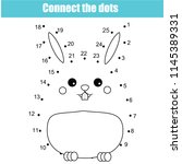 connect the dots children... | Shutterstock .eps vector #1145389331