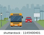 rain in the city. modern urban... | Shutterstock .eps vector #1145400401