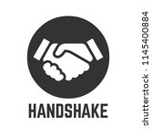 vector handshake or partnership ... | Shutterstock .eps vector #1145400884