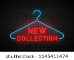 new collection neon sign. neon... | Shutterstock .eps vector #1145411474