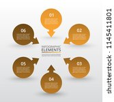 abstract infographic template... | Shutterstock .eps vector #1145411801