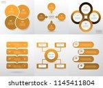 set of modern infographic... | Shutterstock .eps vector #1145411804