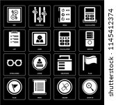 set of 16 icons such as zoom in ...