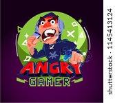 angry gamer logo. gamer logo...   Shutterstock .eps vector #1145413124