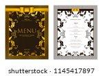 design restaurant menu template ... | Shutterstock .eps vector #1145417897