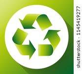 green arrows recycle eco symbol ... | Shutterstock .eps vector #1145419277
