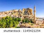 urgup town view in cappadocia... | Shutterstock . vector #1145421254