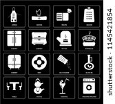 set of 16 icons such as washing ...
