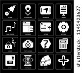 set of 16 icons such as add ...