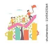 growing business. illustration... | Shutterstock . vector #1145425364