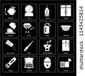 set of 16 icons such as recipe  ... | Shutterstock .eps vector #1145425814