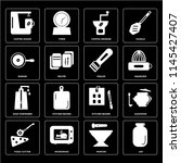 set of 16 icons such as jar ... | Shutterstock .eps vector #1145427407