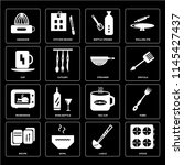 set of 16 icons such as stove ...