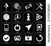 set of 16 icons such as reload  ...
