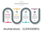 road map business timeline with ... | Shutterstock .eps vector #1145430851