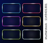 vector collection of neon... | Shutterstock .eps vector #1145431301