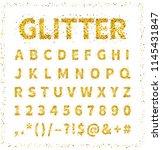uppercase regular display font... | Shutterstock . vector #1145431847