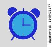 alarm clock blue on a gray... | Shutterstock .eps vector #1145438177