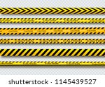 caution lines isolated. warning ... | Shutterstock .eps vector #1145439527