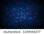abstract technology background  ... | Shutterstock .eps vector #1145443277